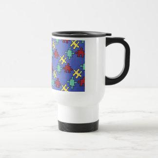 Autism Awareness Puzzle Background Coffee Mugs