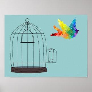 Autism Awareness Puzzle Bird Poster