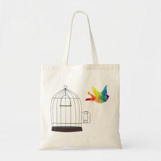 Autism Awareness Puzzle Bird T-Shirt Canvas Bags