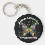 Autism Awareness Puzzle Butterfly Key Chain
