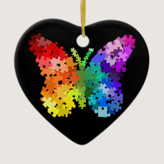 Autism Awareness Puzzle Butterfly Ornament