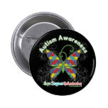 Autism Awareness Puzzle Butterfly Pinback Buttons