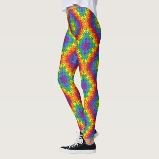 Autism Awareness Puzzle by EelKat Leggings