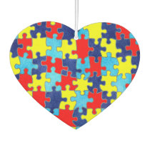 Autism Awareness-Puzzle by Shirley Taylor Air Freshener