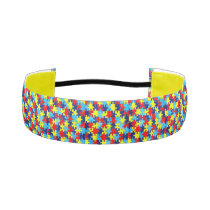 Autism Awareness-Puzzle by Shirley Taylor Athletic Headband