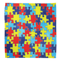 Autism Awareness-Puzzle by Shirley Taylor Bandana