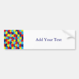 Autism Awareness-Puzzle by Shirley Taylor Bumper Sticker