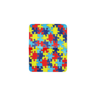 Autism Awareness-Puzzle by Shirley Taylor Business Card Holder