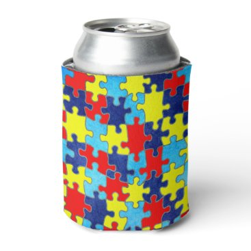 shirleytaylor Autism Awareness-Puzzle by Shirley Taylor Can Cooler
