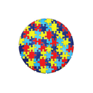 Autism Awareness-Puzzle by Shirley Taylor Candy Tins