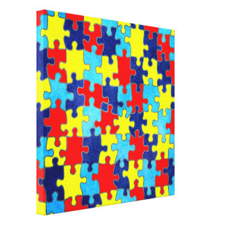 Autism Awareness-Puzzle by Shirley Taylor Canvas Print