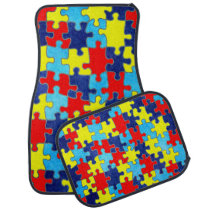 Autism Awareness-Puzzle by Shirley Taylor Car Floor Mat