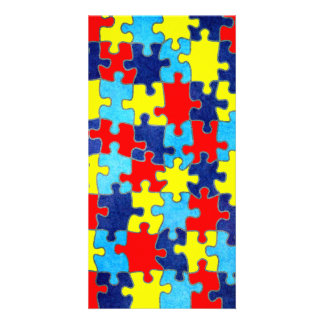 Autism Awareness-Puzzle by Shirley Taylor Card