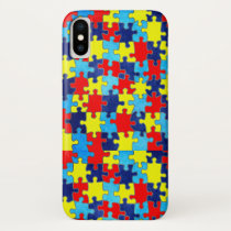 Autism Awareness-Puzzle by Shirley Taylor iPhone X Case