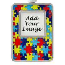 Autism Awareness-Puzzle by Shirley Taylor Christmas Ornament