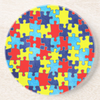 Autism Awareness-Puzzle by Shirley Taylor Coaster