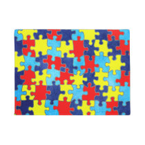 Autism Awareness-Puzzle by Shirley Taylor Doormat