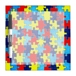 Autism Awareness-Puzzle by Shirley Taylor Dry Erase Board