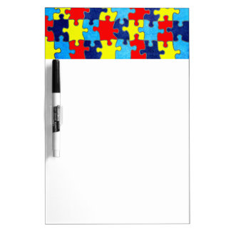 Autism Awareness-Puzzle by Shirley Taylor Dry-Erase Board