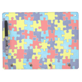Autism Awareness-Puzzle by Shirley Taylor Dry Erase Board With Keychain Holder