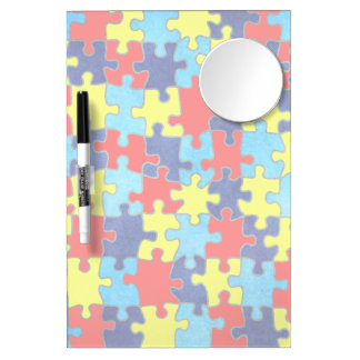 Autism Awareness-Puzzle by Shirley Taylor Dry Erase Board With Mirror