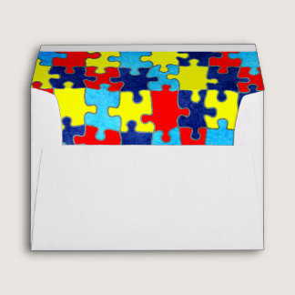 Autism Awareness-Puzzle by Shirley Taylor Envelope