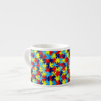Autism Awareness-Puzzle by Shirley Taylor Espresso Cup