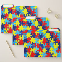Autism Awareness-Puzzle by Shirley Taylor File Folder