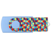Autism Awareness-Puzzle by Shirley Taylor Flash Drive