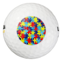 Autism Awareness-Puzzle by Shirley Taylor Golf Balls
