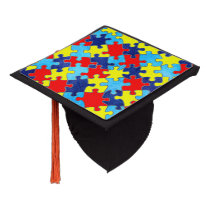 Autism Awareness-Puzzle by Shirley Taylor Graduation Cap Topper