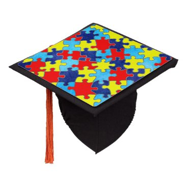 shirleytaylor Autism Awareness-Puzzle by Shirley Taylor Graduation Cap Topper