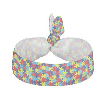 shirleytaylor Autism Awareness-Puzzle by Shirley Taylor Hair Tie