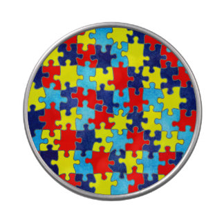 Autism Awareness-Puzzle by Shirley Taylor Jelly Belly Candy Tins