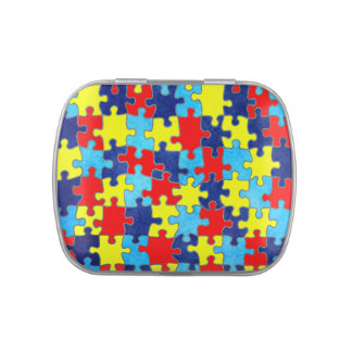 Autism Awareness-Puzzle by Shirley Taylor Jelly Belly Tin