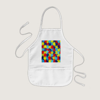 Autism Awareness-Puzzle by Shirley Taylor Kids' Apron