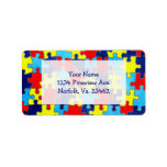 Autism Awareness-Puzzle by Shirley Taylor Label