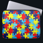 "Autism Awareness-Puzzle by Shirley Taylor Laptop Sleeve<br><div class=""desc"">Autism awareness 13 inch laptop sleeve. Click on the customize button to add your text. Image can be rotated or re-sized. Copyright &#169; Shirley Taylor. All Rights Reserved.</div>"