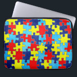 """Autism Awareness-Puzzle by Shirley Taylor Laptop Sleeve<br><div class=""""desc"""">Autism awareness 13 inch laptop sleeve. Click on the customize button to add your text. Image can be rotated or re-sized. Copyright &#169; Shirley Taylor. All Rights Reserved.</div>"""