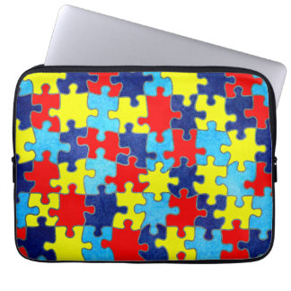 Autism Awareness-Puzzle by Shirley Taylor Laptop Sleeve