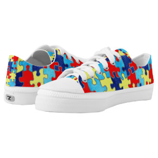 Autism Awareness-Puzzle by Shirley Taylor Low-Top Sneakers