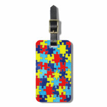 Autism Awareness-Puzzle by Shirley Taylor Luggage Tag