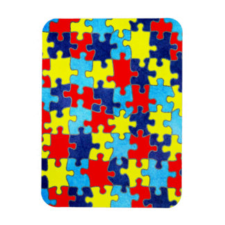 Autism Awareness-Puzzle by Shirley Taylor Magnet
