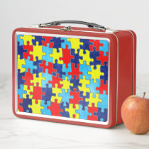 Autism Awareness-Puzzle by Shirley Taylor Metal Lunch Box
