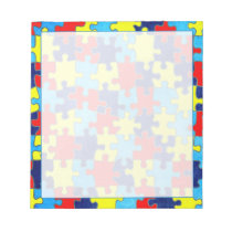 Autism Awareness-Puzzle by Shirley Taylor Notepad