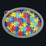 "Autism Awareness-Puzzle by Shirley Taylor Oval Belt Buckle<br><div class=""desc"">Autism awareness oval belt buckle. Click on the customize button to add your text. Image can be rotated or re-sized. Images Copyright &#169; Shirley Taylor. All Rights Reserved.</div>"
