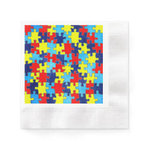 Autism Awareness-Puzzle by Shirley Taylor Paper Napkin