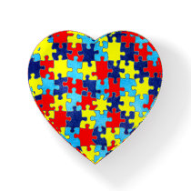 Autism Awareness-Puzzle by Shirley Taylor Paperweight