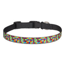 Autism Awareness-Puzzle by Shirley Taylor Pet Collar