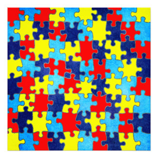 Autism Awareness-Puzzle by Shirley Taylor Photo Print